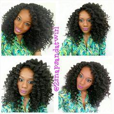 Beauty blogger Ogechi {2snapsandatwirl} rocking her crochet braid wig.