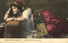 Bosnian girl in Turkish traditional Costume.