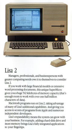 Apple Lisa 2. Who remembers when these came out? #technology #throwbackthursday #computer