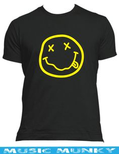 NIRVANA NEVERMIND grunge 90 s  t-shirt New in ALL SIZES & COLOURS smiley face