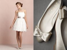 Pairing short wedding dresses with flats is a great alternative to heels