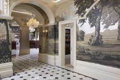 We created a statement scenic wallcovering for the Front Hall of the The Goring as part of the luxury Belgravia hotel's comprehensive renovation, designed together with interior designer Russell Sage and fourth generation family member Jeremy Goring. Classical, idiosyncratic and quintessentially British, Fromental's scenic portrays an Arcadian landscape enlivened with an anthropomorphised menagerie of wild …