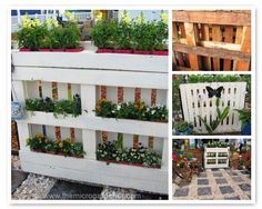 DIY Pallet Planter - A tutorial with easy-to-follow instructions and photos to help you make your own low-cost vertical garden. Shows you how to use both sides of the planter & simple to convert a pallet without lots of tools.   The Micro Gardener