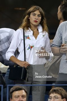 Alexa Chung attends Day 9 of the 2014 US Open at USTA Billie Jean... News Photo 454532378