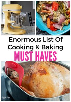 With Christmas and the holidays coming up you need this enormous list of cooking and baking must haves from Canadian blogger, The Bewitchin Kitchen. With Christmas and the holidays coming up, you will want to save this!