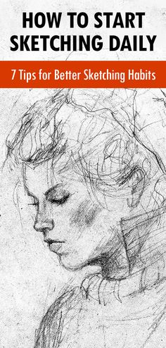 Want To Start A Sketching Habit Here Are Easy Tips - By Carrie Lewis In Art Business Advice General Art Advice In A Previous Article I Shared A Few Ways Artists Can Stay Creative During The Holidays My Tips Included Activities Both In And Outside Drawing Skills, Drawing Lessons, Drawing Tips, Painting & Drawing, Drawing Techniques Pencil, Sketching Techniques, Learn Sketching, Sketching Tips, Drawing Hair