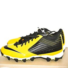 b1203d42ebb97 Details about Nike Vapor Shark Football Cleats Yellow   Black Men s size 9  NEW