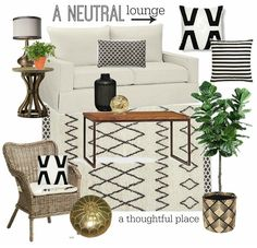 Neutral Living Room: Client Progress