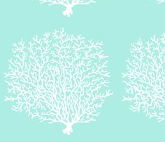 Coral Reef Blue fabric by honoluludesign on Spoonflower - custom fabric