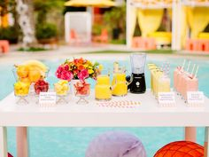 Throw a Relaxing Spa-Day Baby Shower with a fresh smoothie bar >> http://www.diynetwork.com/decorating/throw-a-spa-day-baby-shower-or-baby-sprinkle/pictures/index.html?soc=pinterest