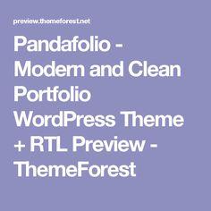 Pandafolio - Modern and Clean Portfolio WordPress Theme + RTL Preview - ThemeForest