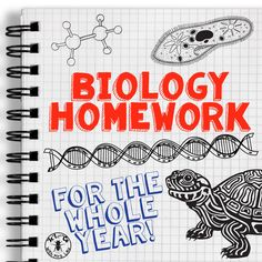 Biology Homework for the Whole Year:  Save yourself tons of time with a single-sided page of homework for every concept, covering characteristics of life, cells, all the way through to genetics, evolution, and ecology.  Science with Mrs. Lau