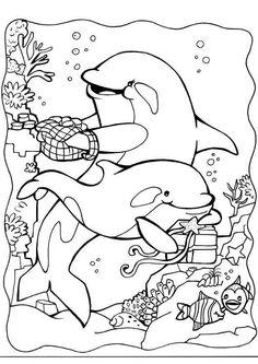 Delfine 12 Ausmalbilder