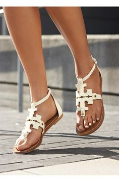 OBSESSED! since my dog destroyed a pair, I deserve a new one ;) Tory Burch 'Phoebe' Thong Sandal