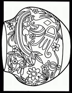 americana folk art coloring pages - photo#25