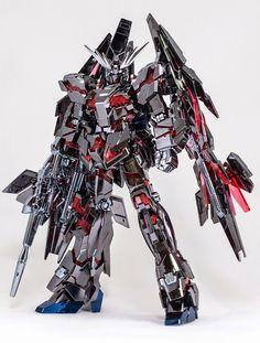 HG 1/144 Unicorn Gundam 03 Phenex type RC [Destory Mode] Ver. GFT Silver [Custom Plated] - Straight Build