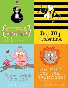 Check out these adorable Valentines for followers of Kiki Creates. I love the idea of giving them to my sons daily in February!