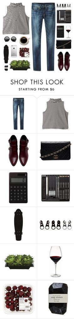 """there's beauty in everything"" by pure-and-valuable ❤ liked on Polyvore featuring R13, Zara, Chanel, Muji, The Row, Full Tilt, Lux-Art Silks, Holmegaard, Cassia and ASOS"