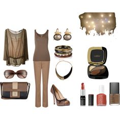 """""""Sheer and Brown"""" by martha-hill-carter on Polyvore"""