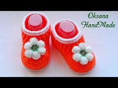 YouTube Crochet Baby Booties, Crochet Hats, Baby Boots, Slippers, Booty, Kids, Handmade, Clothes, Shoes
