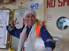 I like seeing the seafarers goof around. Their jobs are difficult and their work environment harsh, so I like that when we visit, we can bring some levity to their day. http://seamenschurch.org/cas