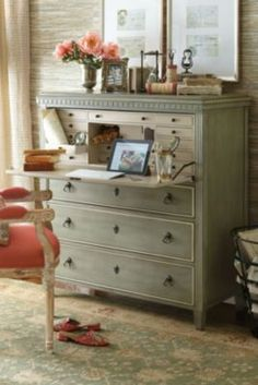 Something like this in dressing area for jewelry and accessories.   Bruges Secretary from Soft Surroundings