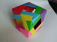 Diamond Window Cube (Modular Origami)