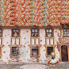 Úplet Hansel and Gretel digital print panel