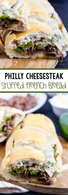 Philly Cheesesteak Stuffed French Bread