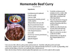 SW Homemade beef curry