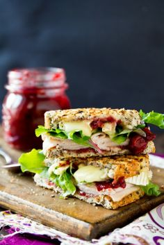 sandwich dinde brie cranberry