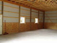 30 x 40 x 12 Steel Barn - Standard Barn Construction Michigan - Burly Oak Builders Pole Barns Direct, Steel Barns, Michigan, Construction, Home Decor, Building, Decoration Home, Room Decor, Home Interior Design