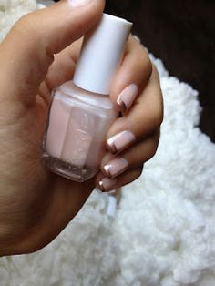 french manicure with rose gold tips!