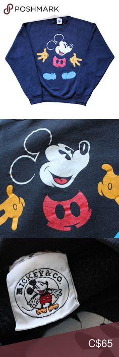 Vintage Disney Mickey Mouse Sweater Vintage Disney Mickey Mouse Sweater L - Black A black Mickey & Co Mickey Mouse Sweater, Mickey on front Cotton / Polyester TheBandTee.Shop - Thank you! Mickey & Co Mickey Mouse Sweaters Crewneck Plus Fashion, Fashion Tips, Fashion Trends, Vintage Disney, Disney Mickey Mouse, Men Sweater, Kids Rugs, Man Shop, My Favorite Things