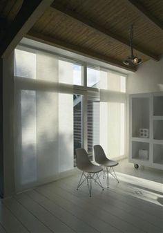 Wil je geen inkijk maar wel een lichte ruime kamer? kies dan voor paneelgordijnen!