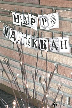 Happy Hanukkah Banner: Printable Download