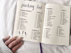 Bullet Journal College Packing List