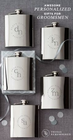 Thank them for being there for you and your bride with personalized gifts they'll use for years to come. Get more ideas for the guys at ThingsRemembered.com!