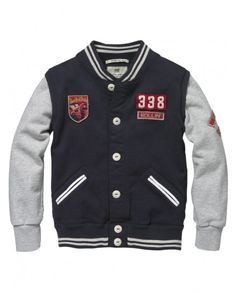 Scotch Shrunk worked-out college sweater with cool embroideries and badges