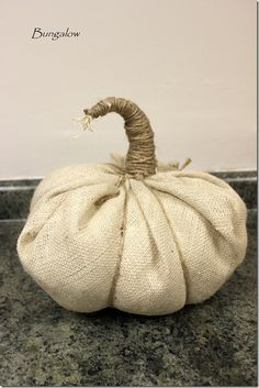 oh my goodness! burlap pumpkins. I die.