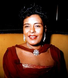 Billie Holiday from Images of Jazz Greats - (photo by Nat Singerman) Billie Holiday, Lady Sings The Blues, Divas, Pin Up, Vintage Black Glamour, Jazz Musicians, Jazz Artists, Music Artists, Jazz Blues