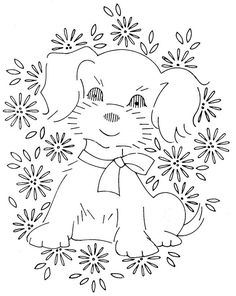 puppy hand embroidery, hand embroideri, baby quilts, babi quilt, puppi