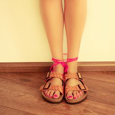 braided birkenstocks
