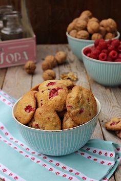 Galletas de frambuesas y nueces :: Malinová kolečka s ořechy