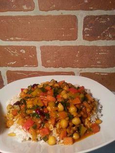 La cuisine de mamali : Ragoût de pois chiches et lentilles Vegan Recipes, Cooking Recipes, Food Fantasy, Chana Masala, Food For Thought, Vegan Vegetarian, Veggies, Food And Drink, Nutrition
