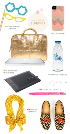 what to bring to blogshop!