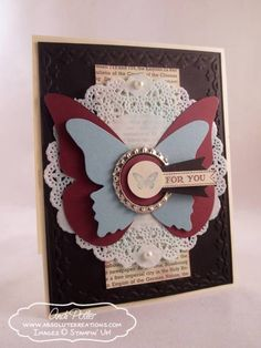 Collage Curios Blog Tour - Butterflies For You by absolutekreations - Cards and Paper Crafts at Splitcoaststampers