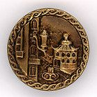 """1.25"""" BRASS PICTURE BUTTON (2854) - 1.25&quot, 2854, Brass, Button, PICTURE"""