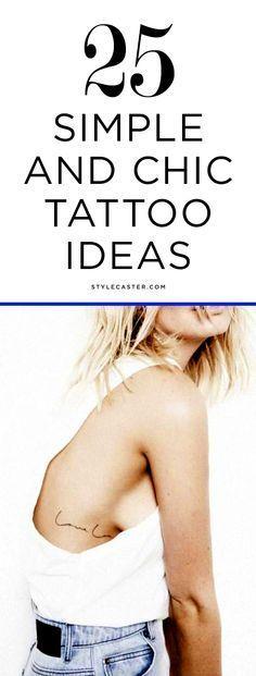 25 Simple & Minimalist Tattoo Ideas for Women   @stylecaster