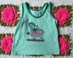 Vintage Strawberry Girl Tank Toddlers 3/3T by lishyloo on Etsy